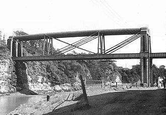 Chepstow Railway Bridge - Brunel's original railway bridge over the Wye at Chepstow, before its 1962 replacement.