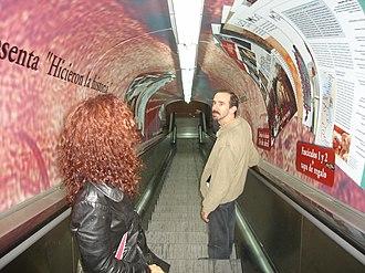 Pueyrredón (Line D Buenos Aires Underground) - Image: Buenos Aires Subte Pueyrredón D 2