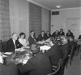 Zulfikar Ali Bhutto - Foreign Minister Bhutto meets West German officials in Bonn, 1965.