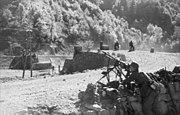 Bundesarchiv Bild 101I-203-1686-25, Albanien, deutsche MG-Stellung