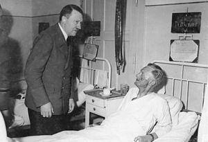 Karl-Jesko von Puttkamer - End July 1944, Hitler visiting Puttkamer in the hospital after the failed 20 July plot