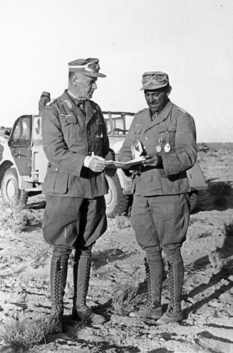 General der Panzertruppe - Image: Bundesarchiv Bild 183 B17409, Nordafrika, Ludwig Crüwell, Fritz Bayerlein