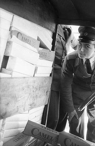 Illicit cigarette trade - Contraband cigarettes found by police
