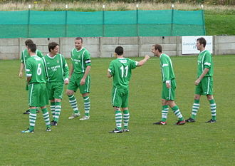 Burscough F.C. - Burscough players before a match