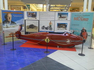 The World's Fastest Indian - A replica of Munro's Indian used in the movie