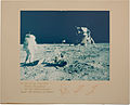 Buzz Aldrin standing on the Moon. Photo signed by Aldrin, Armstrong and Collins.jpg