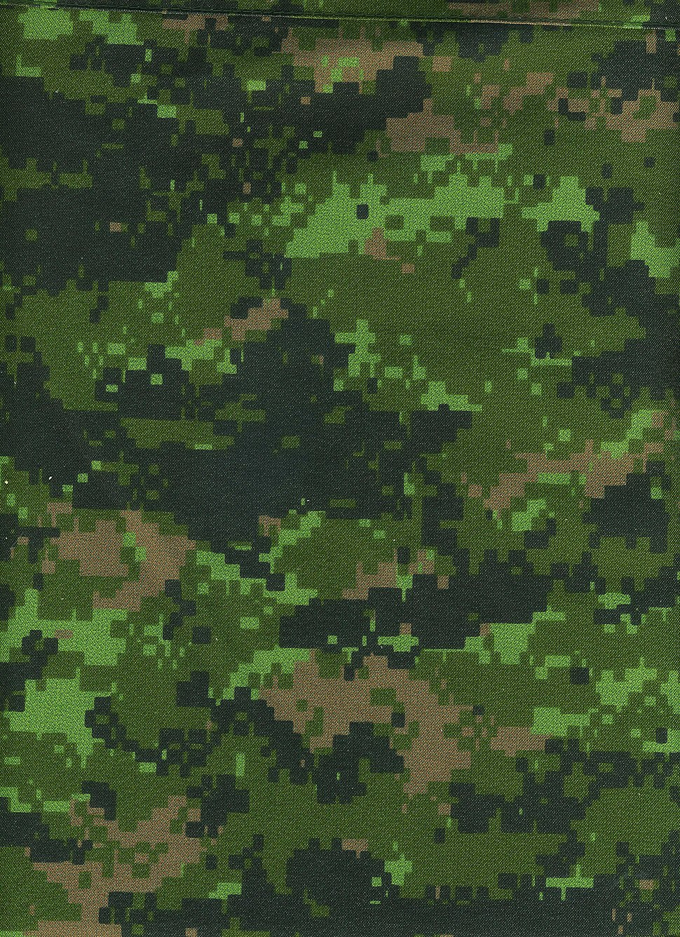 CADPAT digital camouflage pattern (Temperate Woodland variant)