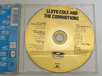 CD Video - A typical CD Video release in its case. This contains three audio tracks and one video by the band Lloyd Cole and the Commotions.