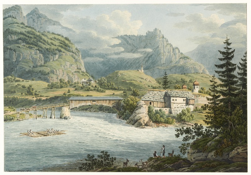 File:CH-NB - Reichenau, beim Zusammenfluss von Vorder- und Hinterrhein, von Süden - Collection Gugelmann - GS-GUGE-LUTTRINGHAUSEN-1-4.tif