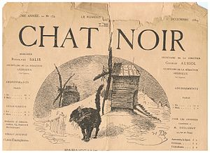 Rodolphe Salis - CHAT NOIR journal, number 152, 6 Decembre 1884.