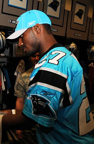 CJ Wilson in Panthers locker room 11-11-08.JPG