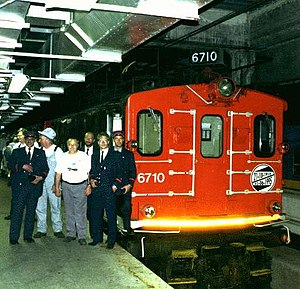 Mount Royal Tunnel - Electric Boxcab locomotive used on the Deux-Montagnes suburb train line from 1918 to 1995