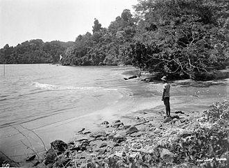Nusa Kambangan - The south coast of Noesa Kambangan, c. 1920–40