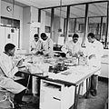 COLLECTIE TROPENMUSEUM Dierproeven in het laboratorium van het K.I.T. Medical Research Centre in Nairobi TMnr 20014352.jpg