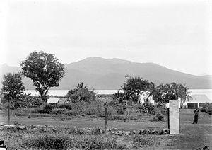 Larantuka - View from Larantoeka of the island Adonara
