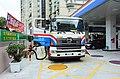 CPC HINO 700 Tank Rigid Truck Supplying Minsheng East Road Petrol Station 20160530a.jpg
