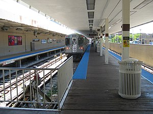 Albany Park, Chicago - The Kimball station at the terminus of the CTA Brown Line.