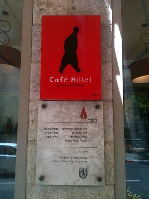 Café Hillel bombing - Memorial plaque for bombing victims