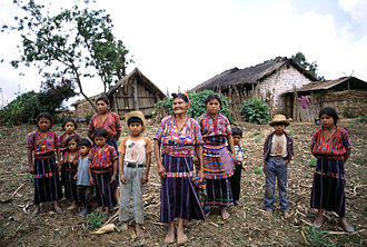 Kaqchikel people - Image: Cakchiquel family