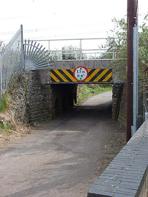 Caldicot railway station - The low underpass to the Newport platform
