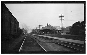 Cambridge Springs (Erie Railroad station) - The former Cambridge Springs depot, seen in 1916.
