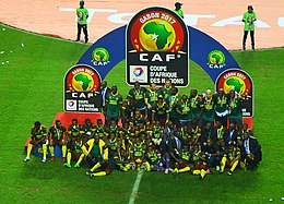 Cameroon celebrating winning 2017 Africa Cup of Nations (cropped).jpg