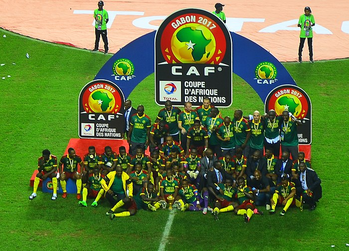 2017 African Cup of Nations winners Cameroon Cameroon celebrating winning 2017 Africa Cup of Nations (cropped).jpg