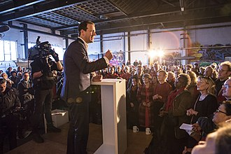 2017 Dutch general election - Asscher campaigning