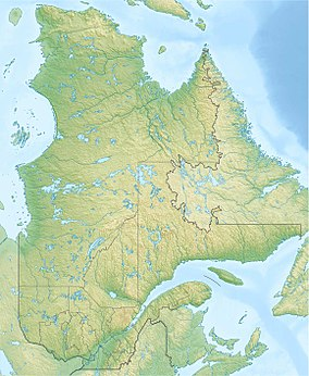 Map showing the location of Forillon National Park