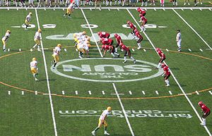 Battle of Alberta - An Alberta Golden Bears–Calgary Dinos football game at McMahon Stadium in 2006