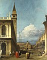 Canaletto (Venice 1697-Venice 1768) - The Piazzetta looking North towards the Torre dell'Orologio - RCIN 405074 - Royal Collection.jpg