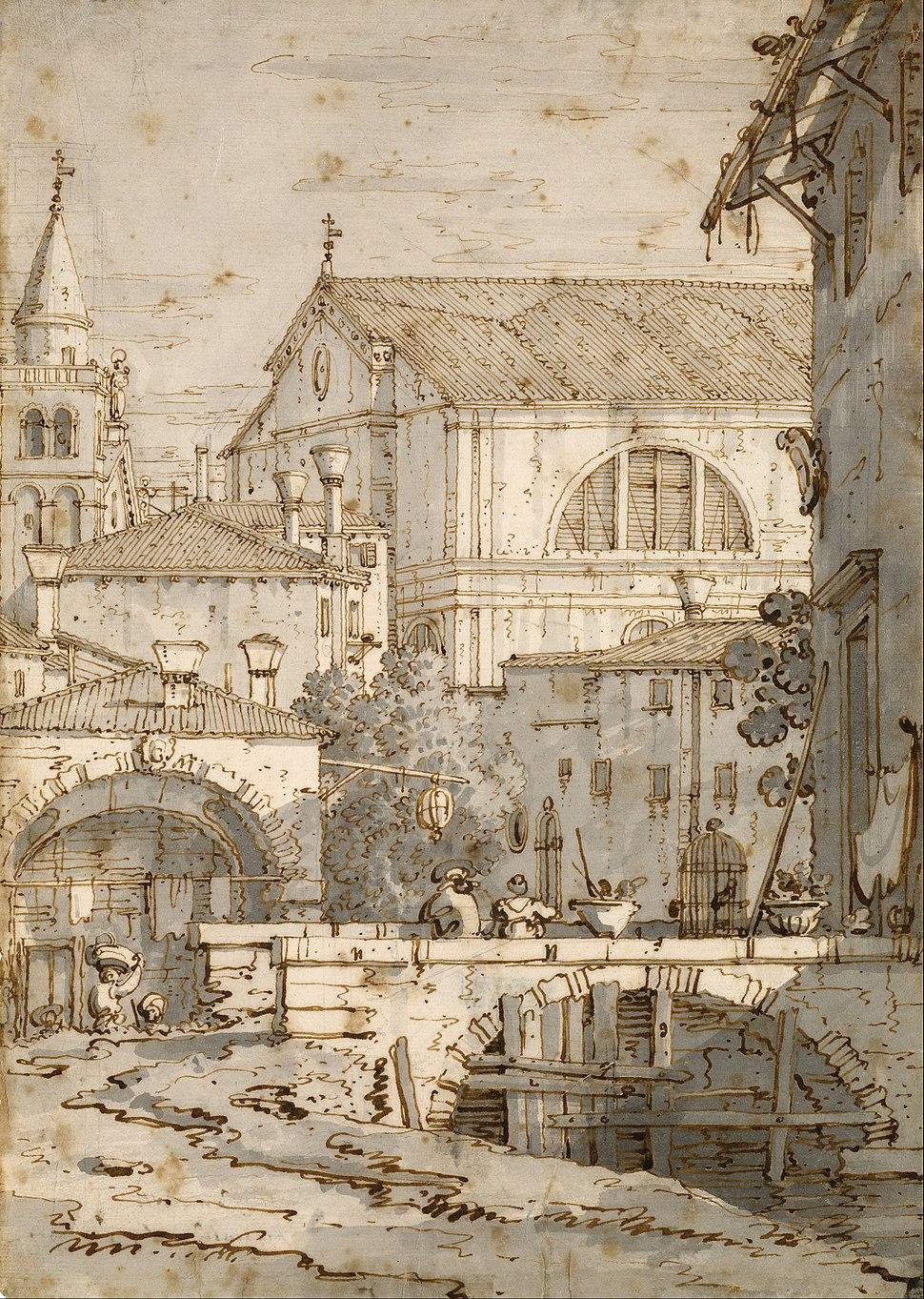 Canaletto - Architectural Capriccio - Google Art Project