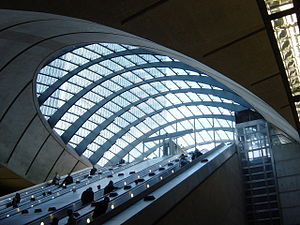 Canary Wharf tube station - Image: Canary Wharf Tube A