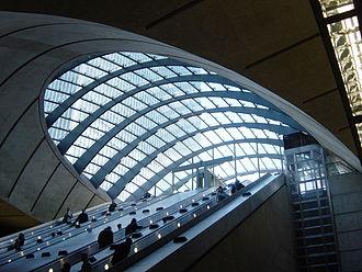 Canary Wharf tube station - Image: Canary Wharf Tube A