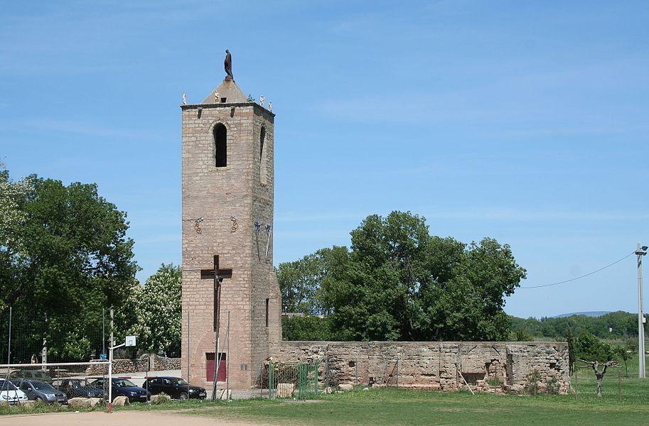Canet (Hérault) - clocher de l'ancienne église Saint-Martin.