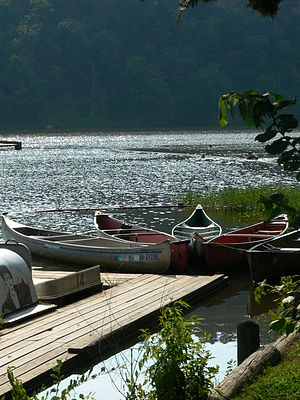 Robbers Cave State Park - Canoe rental facility on Lake Carlton in July, 2007.