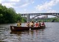 Canoeing by the Franklin Avenue Bridge in Minneapolis.tif