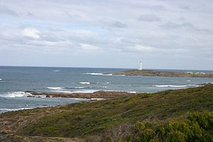 Cape Leeuwin - Cape Leeuwin seen from the east