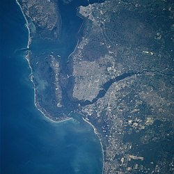 Satellite view of Cape Coral