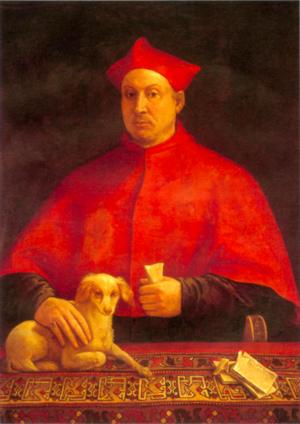 Pompeo Colonna - Portrait by Sebastiano del Piombo, Galleria Colonna, Rome