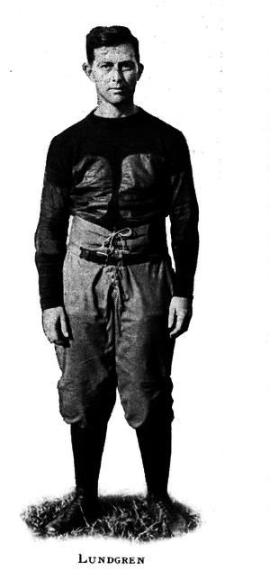 Carl Lundgren - Lundgren as assistant football coach, 1919