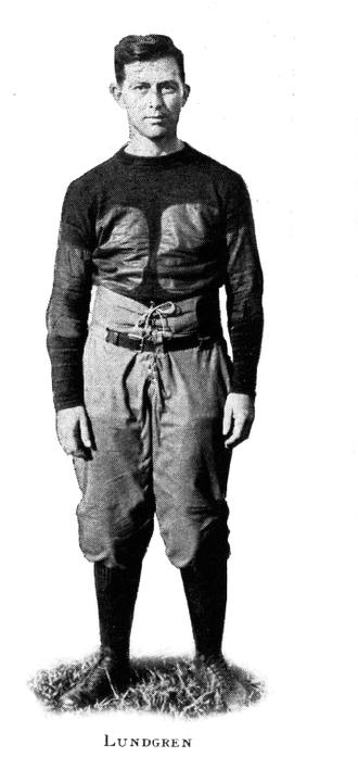 Carl Lundgren - Lundgren as assistant football coach, 1919
