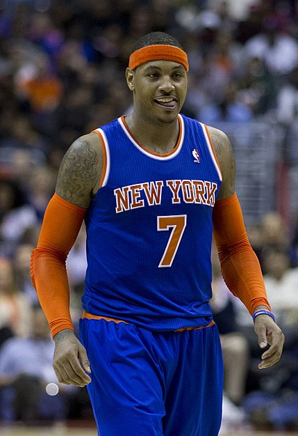 Carmelo Anthony with the Knicks Carmelo Anthony Nov 2013 2.jpg