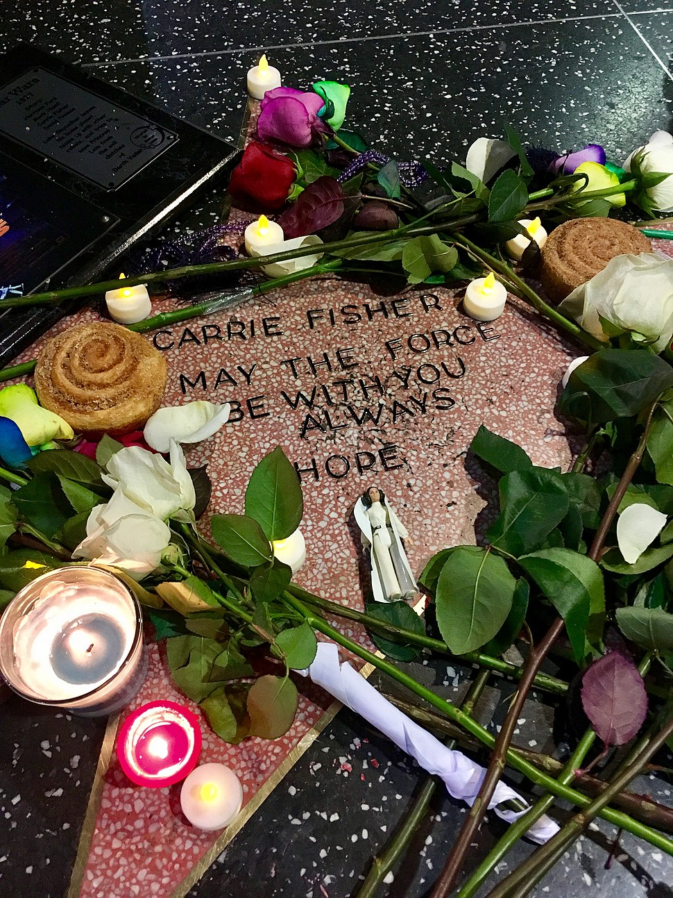 Carrie Fisher memorial star