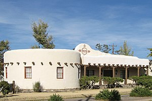 National Register of Historic Places listings in Lincoln County, New Mexico - Image: Carrizozo New Mexico Woman's Club building