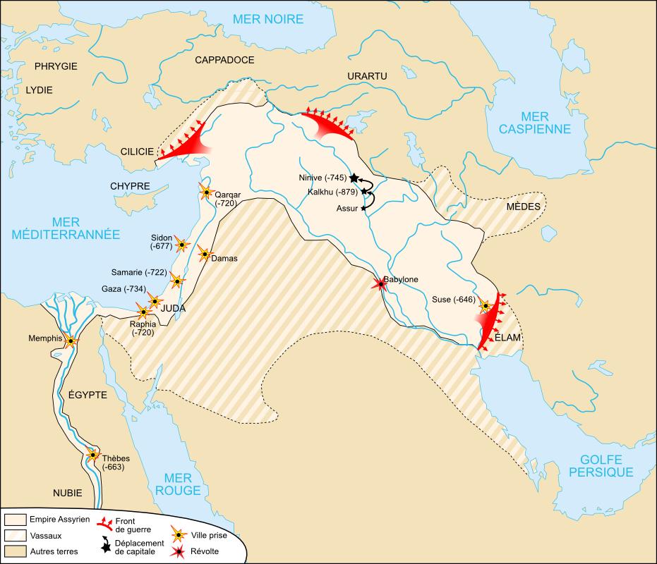 Carte-Empire néo-assyrien