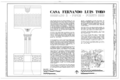 Casa Fernando Luis Toro, Casa Obispado 3, Ponce, Ponce Municipio, PR HABS PR,6-PONCE,13- (sheet 1 of 6).png