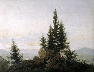 Vue de la vallée de l'Elbe