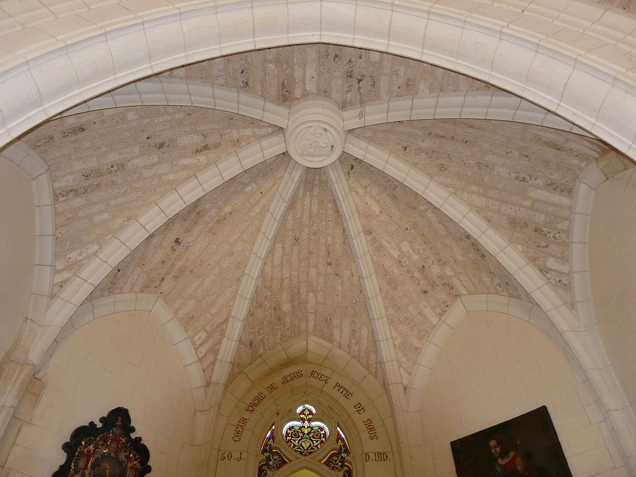 File castelnaud lacoste chapelle plafond choeur jpg - Plafond de la chapelle sixtine description ...