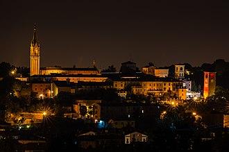 Castelvetro di Modena - Panoramic view by night
